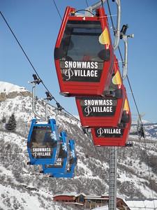 Snowmass Ski Gondola, Snowmass Village, Colorado, USA