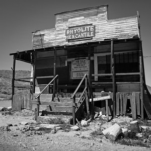 Ryolite Mercantile, Ryolite Ghost Town, Death Valley National Park, California, USA