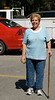 Sandy with her new walking cane