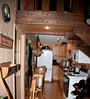 • The cabin we stayed at in Bryson City, NC<br /> • The kitchen area
