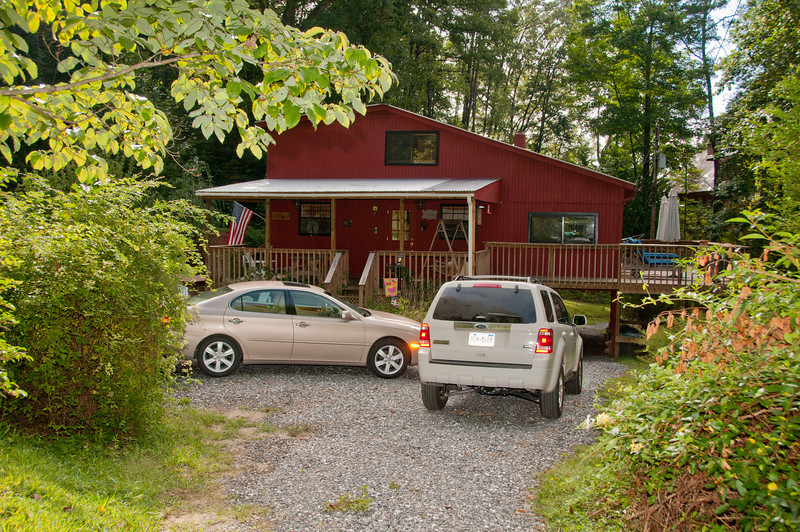 • The cabin we stayed at in Bryson City, NC<br /> • The back entrance to the cabin