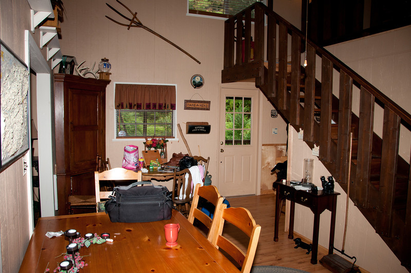 • The cabin we stayed at in Bryson City, NC<br /> • Dining area