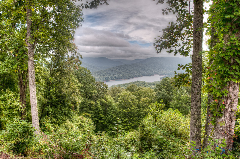 • On the way to Fontana Dam<br /> • Scenic view of Fontana Lake