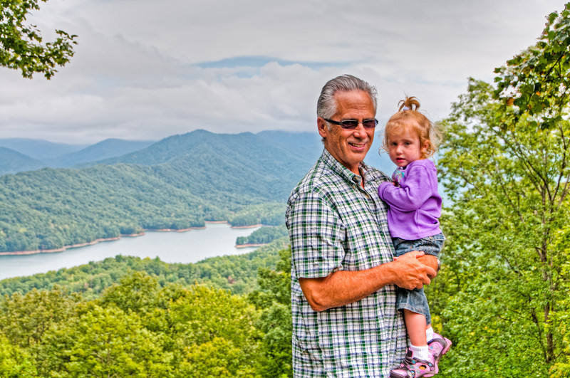 • On the way to Fontana Dam<br /> • Sadie Rose with her daddy
