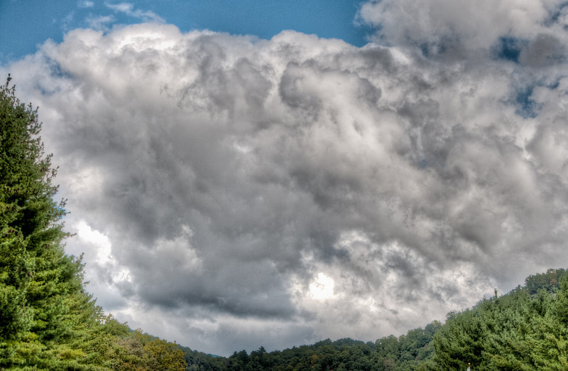 • Cherokee NC<br /> • Sadie would say these are ominous clouds