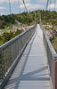Grandfather Mountain's Mile High Swinging Bridge. It was so cold and windy, nobody was up on the bridge this morning.