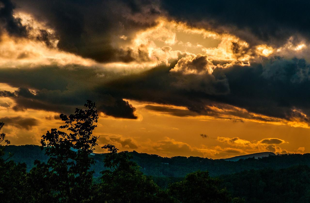 Sunset photos of Grandfather mountain