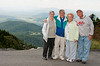 Freddy and Danny Jacobson, and Sandy and Arnold Dubin on top of Grandfather Mountain.  What a view!