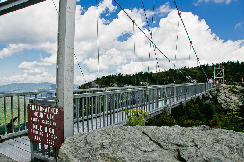 View from the top of Grandfather Mountain bridge