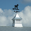 Detail of the weather vane on the stables.