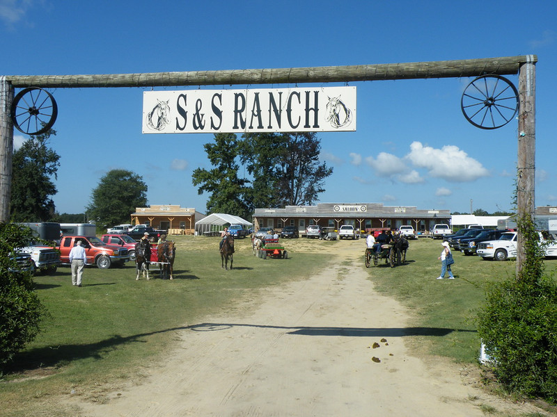 Arriving at the S & S Ranch. This is where we parked the car.