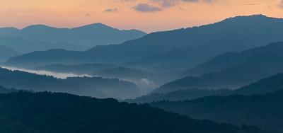 Smoky Mountain Sunrise, Cataloochee Vista
