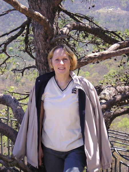 Donna on Chimney Rock