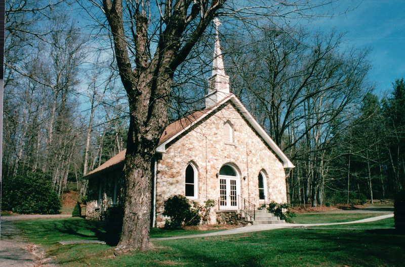 """Mayberry Church on Blue Ridge Parkway Milepost 180, VA  11-10-03<br /> The community of Mayberry, like much of what is considered the """"mountain"""" section of Patrick County, Virginia, became a settled farming village in the 1820s to 1830s.  Mayberry was one of many tiny communities tucked into the rolling plateau that was attractive to the early pioneers mostly descended from German, English and Scotch-Irish immigrants.  In many ways Mayberry began as a rough and tumble frontier town.  Not far from the center of the community that includes the church and Mayberry Trading Post stood Fort Tory near Hurricane Ridge. Originally called Bear Wallow, this frontier fort was built around 1752 as part of a chain of frontier forts across the Blue Ridge Mountains that protected the settlers in the Piedmont areas from Indian attacks."""