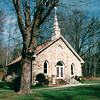"Mayberry Church on Blue Ridge Parkway Milepost 180, VA  11-10-03<br /> The community of Mayberry, like much of what is considered the ""mountain"" section of Patrick County, Virginia, became a settled farming village in the 1820s to 1830s.  Mayberry was one of many tiny communities tucked into the rolling plateau that was attractive to the early pioneers mostly descended from German, English and Scotch-Irish immigrants.  In many ways Mayberry began as a rough and tumble frontier town.  Not far from the center of the community that includes the church and Mayberry Trading Post stood Fort Tory near Hurricane Ridge. Originally called Bear Wallow, this frontier fort was built around 1752 as part of a chain of frontier forts across the Blue Ridge Mountains that protected the settlers in the Piedmont areas from Indian attacks."