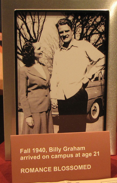 Ruth and Billy at Wheaton College - Billy Graham Library - Charlotte, NC  11-26-10<br /> At Wheaton College, Billy Graham met fellow student Ruth Bell.  After graduation in August, 1943, the Grahams were married and began their first pastorate at a Baptist church in the Chicago suburb of Western Springs.