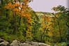 in Chimney Rock State Park, NC - early fall colors