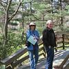 Donna and Charlie Allred on Bridge - Botanical Gardens at Asheville, NC  4-9-09