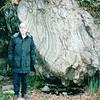 Randal Beside Huge Rock in Botanical Gardens, Asheville, NC  4-10-04