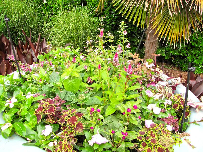 Flower Pot Garden with Stick Misters - Daniel Stowe Botanical Garden - Belmont, NC  5-12-12