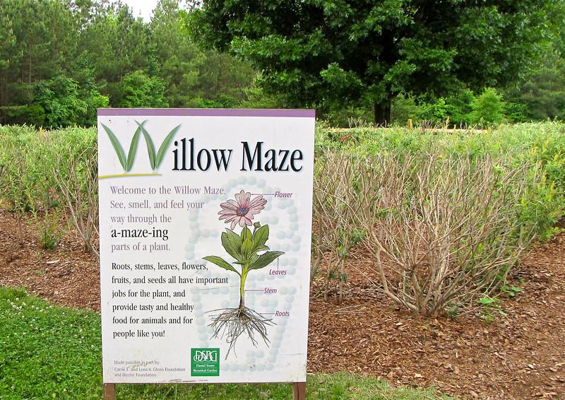 Willow Maze - Daniel Stowe Botanical Garden - Belmont, NC  5-12-12