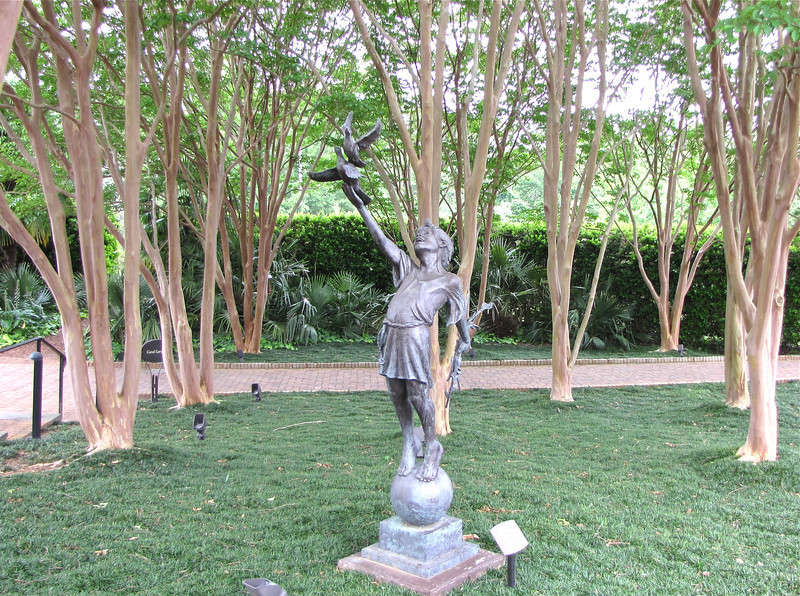 Child of Peace by Gary Lee Price in Bronze - Daniel Stowe Botanical Garden - Belmont, NC  5-12-12