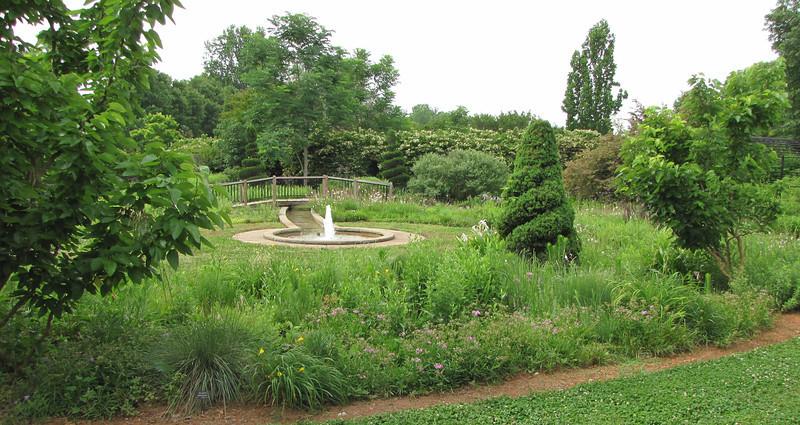 Bridge and Fountain - Daniel Stowe Botanical Garden - Belmont, NC  5-12-12
