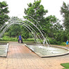 "The Allee Garden - Daniel Stowe Botanical Garden - Belmont, NC  5-12-12<br /> Notice the sign that says, ""Take a Chance!""  It was fun watching people go through it, especially the little boy that is running on the right.  He just kept circling with delight."