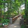 Beautiful Bridge in Spring Woodland Garden - Sarah P. Duke Gardens - Durham, NC<br /> In Doris Duke Gardens area.