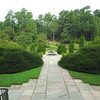 On Stairs With Pergola Behind Us - Sarah P. Duke Gardens - Durham, NC<br /> Terrace Gardens ahead with fountain and Fish Pool.