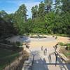 Rose Garden and Fountain in Historic Gardens - Sarah P. Duke Gardens - Durham, NC