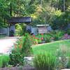 Rose Garden Within the Historic Garden Area - Sarah P. Duke Gardens - Durham, NC<br /> Entrance ahead to William L. Culberson Asiatic Arboretum
