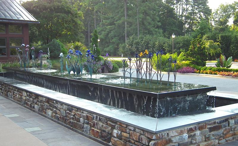 Iris Fountain at Doris Duke Visitor Center - Sarah P. Duke Gardens - Durham, NC<br /> Add a description…Als