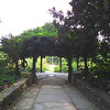 Huge Gazebo Style Pergola with Wisteria - Sarah P. Duke Gardens - Durham, NC<br /> Looking through to the Historic Terraces Garden and Fish Pool.
