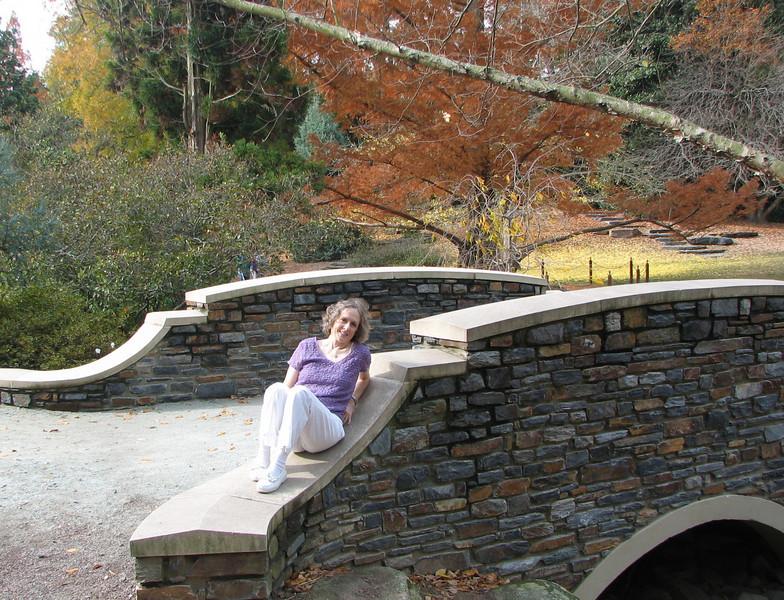 Beautiful Bridges Everywhere - Donna Enjoying One Of Them
