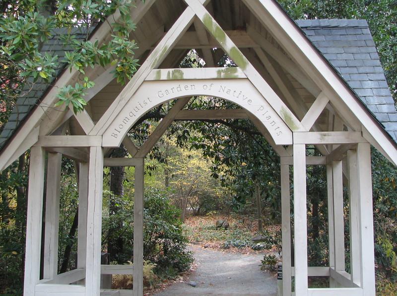 Entrance To Blomquist Garden Of Native Plants