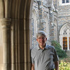 Randal In Portico Beside Duke Chapel