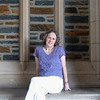 Donna At End Of Portico By Duke Chapel_2