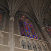 Stained Glass In Duke Chapel With Ceiling