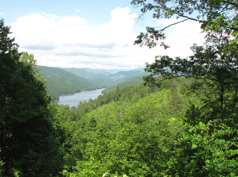 Highway 28 View - Fontana Lake in the Smoky Mountains, NC