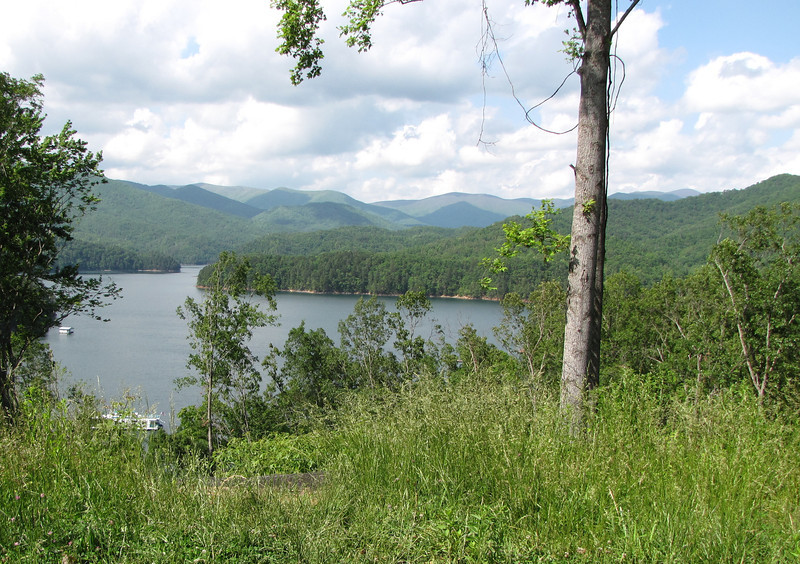 Another Pull-off with View of Fontana Lake in the Smoky Mountains, NC