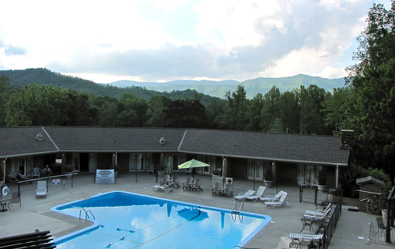 Pool View From Lodge Deck - Fontana Village Resort in Smoky Mountains, Fontana Dam, NC