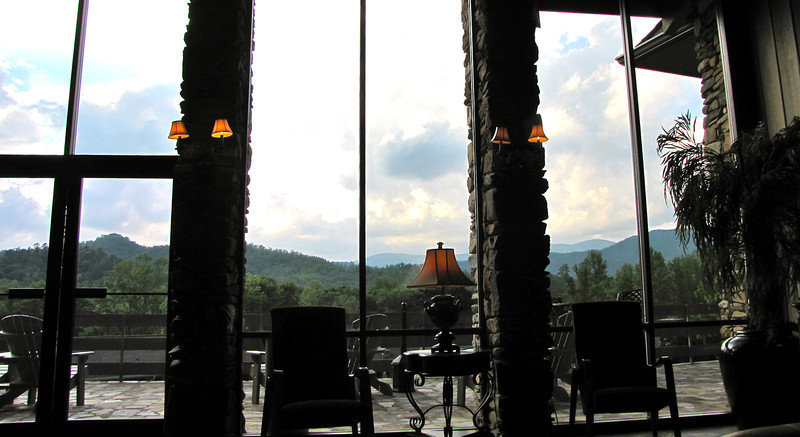 View From Couch Inside Lodge - Fontana Village Resort in Smoky Mountains, Fontana Dam, NC