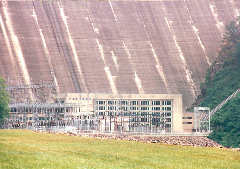 Closeup of Building and Power Station - Fontana Dam, NC