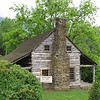Side View of Gunter Cabin - Fontana Village Resort in Smoky Mountains, Fontana Dam, NC<br /> Built in 1875 by Jessie Cornwell Gunter.