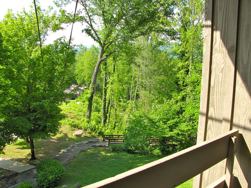 View From Our Balcony - Fontana Village Resort in Smoky Mountains, Fontana Dam, NC