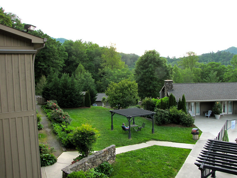 View From Lodge Deck - Fontana Village Resort in Smoky Mountains, Fontana Dam, NC