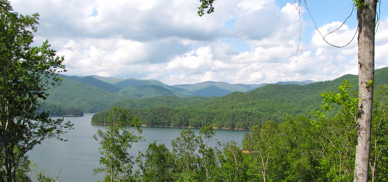 Water, Mountains and Clouds - What Can Heaven Look Like - Fontana Lake in the Smoky Mountains, NC