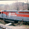 Train Wreck Cars - Great Smoky Mountains Railway - Bryson City, NC  4-7-97