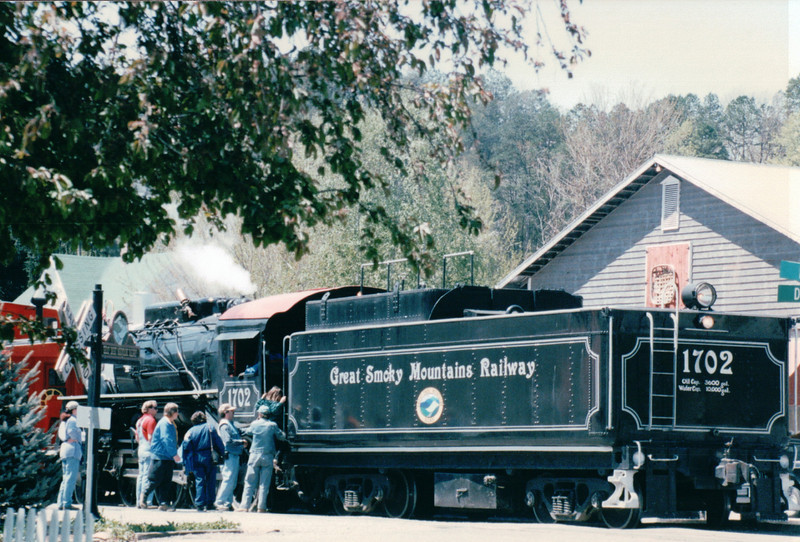 At the Station - Great Smoky Mountains Railway - Bryson City, NC  4-12-97
